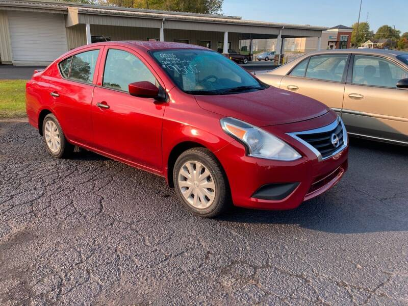 2016 Nissan Versa for sale at McCully's Automotive - Under $10,000 in Benton KY