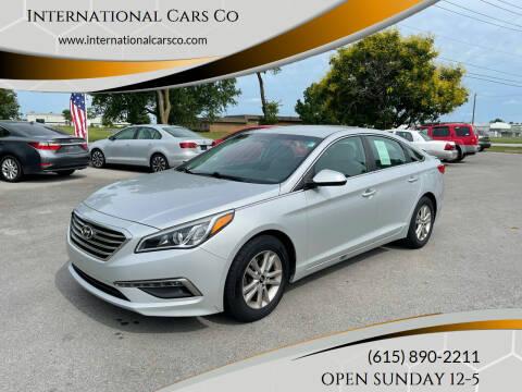 2015 Hyundai Sonata for sale at International Cars Co in Murfreesboro TN