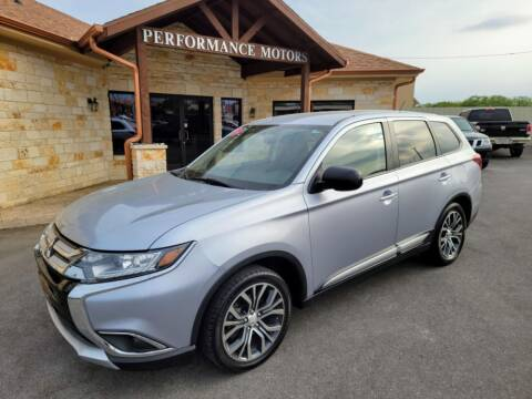 2016 Mitsubishi Outlander for sale at Performance Motors Killeen Second Chance in Killeen TX