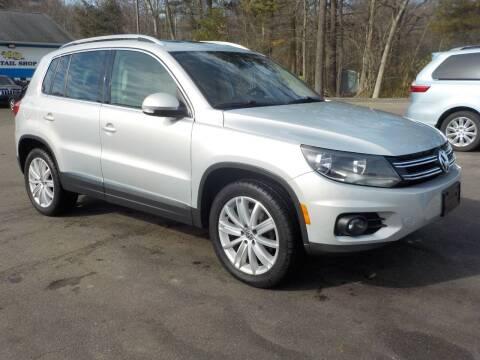 2013 Volkswagen Tiguan for sale at RTE 123 Village Auto Sales Inc. in Attleboro MA