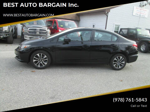 2015 Honda Civic for sale at BEST AUTO BARGAIN inc. in Lowell MA