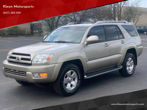 2004 Toyota 4Runner for sale at Klean Motorsports in Skokie IL