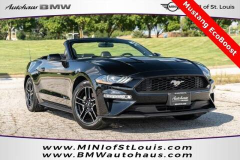2018 Ford Mustang for sale at Autohaus Group of St. Louis MO - 40 Sunnen Drive Lot in Saint Louis MO