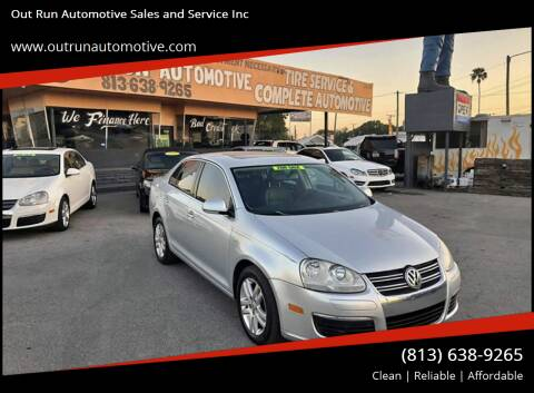 2007 Volkswagen Jetta for sale at Out Run Automotive Sales and Service Inc in Tampa FL