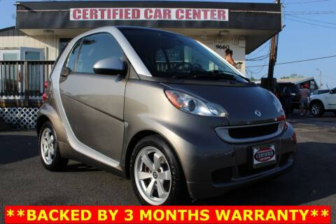 2012 Smart fortwo for sale at CERTIFIED CAR CENTER in Fairfax VA