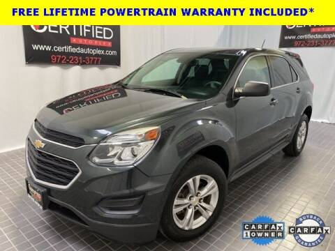 2017 Chevrolet Equinox for sale at CERTIFIED AUTOPLEX INC in Dallas TX