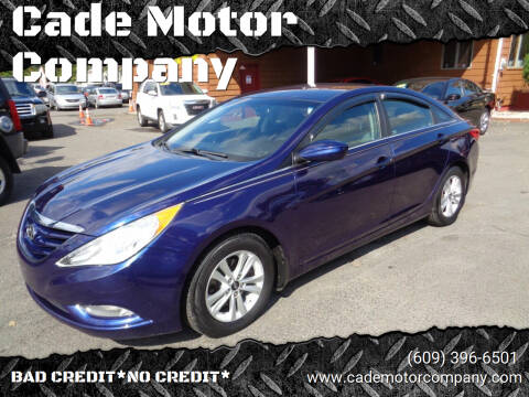 2013 Hyundai Sonata for sale at Cade Motor Company in Lawrenceville NJ