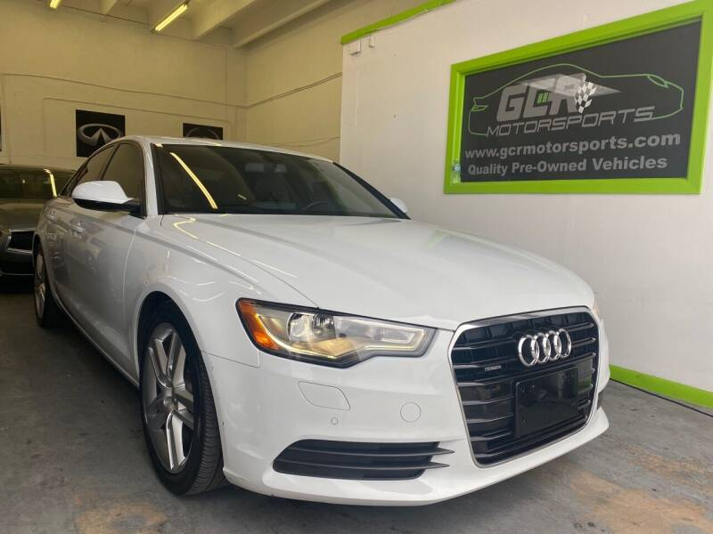 2014 Audi A6 for sale at GCR MOTORSPORTS in Hollywood FL