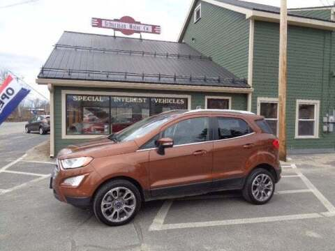 2019 Ford EcoSport for sale at SCHURMAN MOTOR COMPANY in Lancaster NH