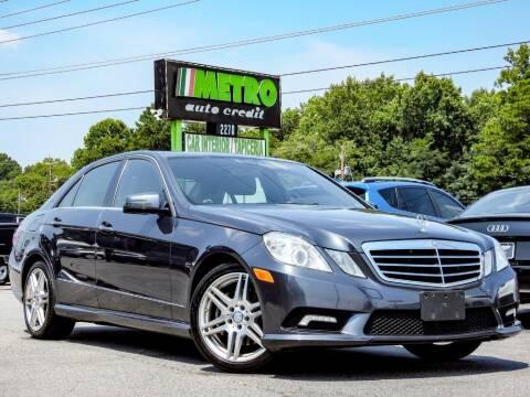2011 Mercedes-Benz E-Class for sale at Metro Auto Credit in Smyrna GA