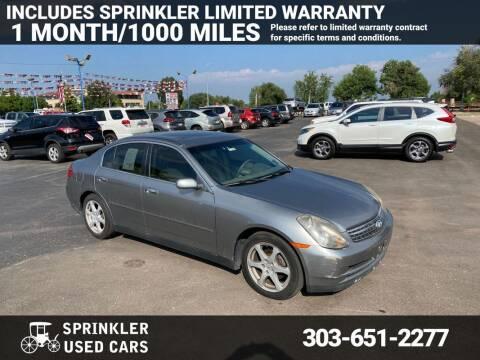 2004 Infiniti G35 for sale at Sprinkler Used Cars in Longmont CO