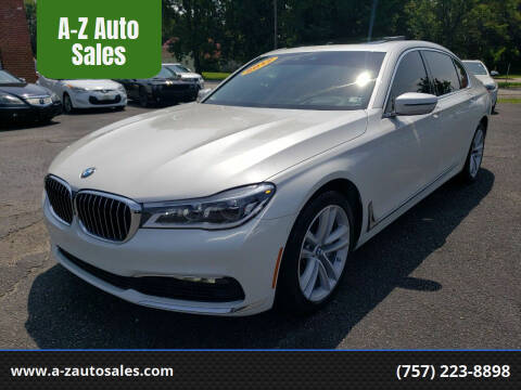 2017 BMW 7 Series for sale at A-Z Auto Sales in Newport News VA