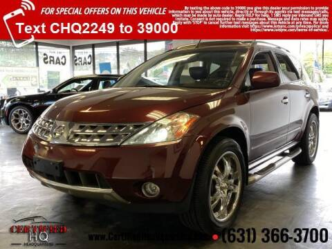 2006 Nissan Murano for sale at CERTIFIED HEADQUARTERS in St James NY