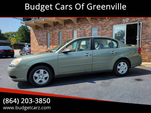 2005 Chevrolet Malibu for sale at Budget Cars Of Greenville in Greenville SC