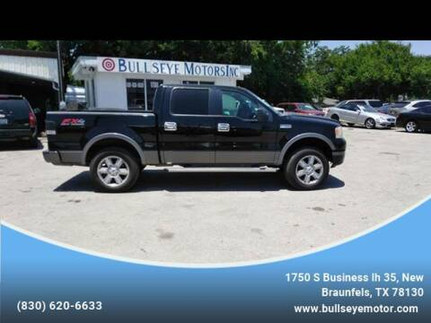 2006 Ford F-150 for sale at BULLSEYE MOTORS INC in New Braunfels TX