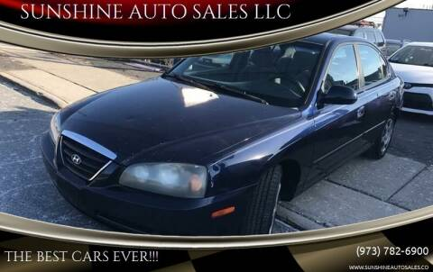2004 Hyundai Elantra for sale at SUNSHINE AUTO SALES LLC in Paterson NJ