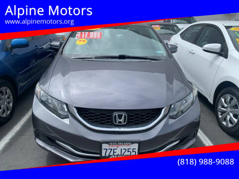 2014 Honda Civic for sale at Alpine Motors in Van Nuys CA