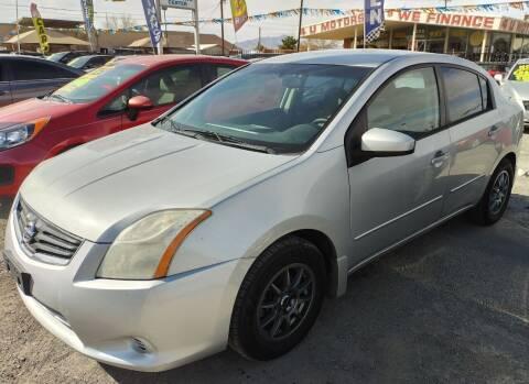 2012 Nissan Sentra for sale at 4 U MOTORS in El Paso TX