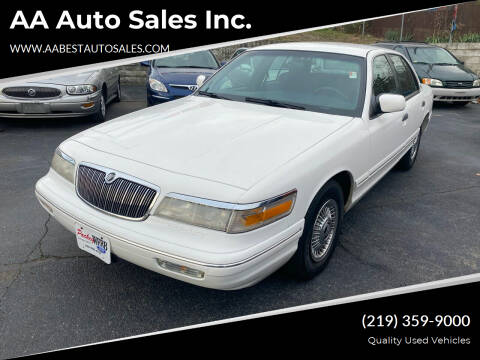 1996 Mercury Grand Marquis for sale at AA Auto Sales Inc. in Gary IN