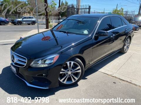 2014 Mercedes-Benz E-Class for sale at West Coast Motor Sports in North Hollywood CA