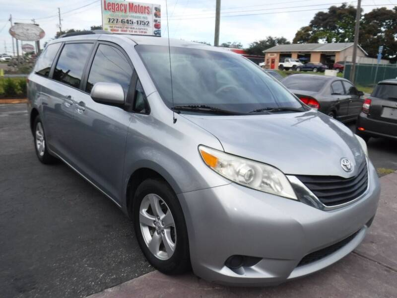 2011 Toyota Sienna for sale at LEGACY MOTORS INC in New Port Richey FL