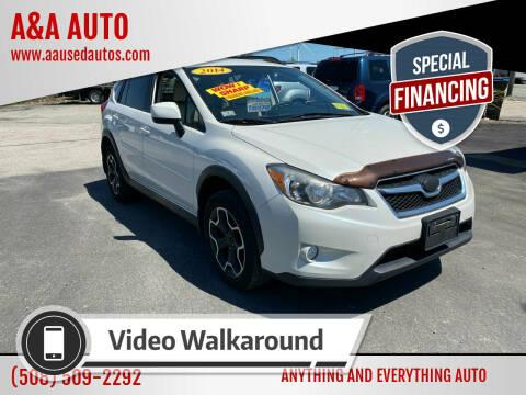 2014 Subaru XV Crosstrek for sale at A&A AUTO in Fairhaven MA