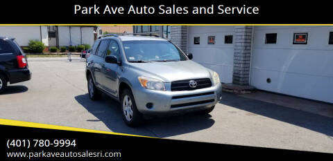 2008 Toyota RAV4 for sale at Park Ave Auto Sales and Service in Cranston RI