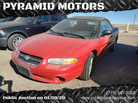 1998 Chrysler Sebring for sale at PYRAMID MOTORS - Pueblo Lot in Pueblo CO
