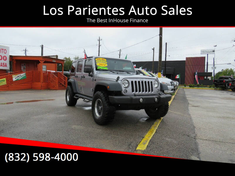 2014 Jeep Wrangler Unlimited for sale at Los Parientes Auto Sales in Houston TX