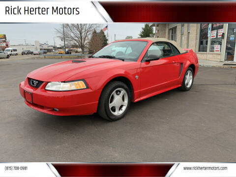 1999 Ford Mustang for sale at Rick Herter Motors in Loves Park IL