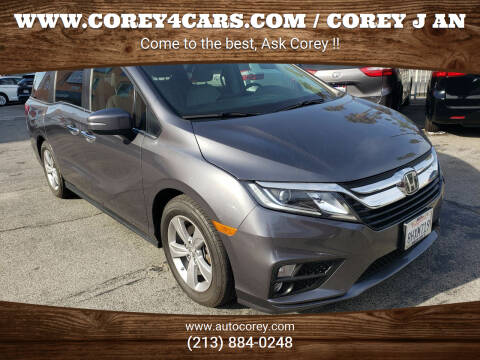 2019 Honda Odyssey for sale at WWW.COREY4CARS.COM / COREY J AN in Los Angeles CA