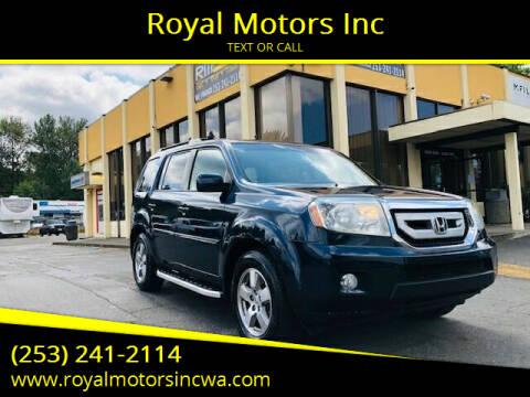 2011 Honda Pilot for sale at Royal Motors Inc in Kent WA