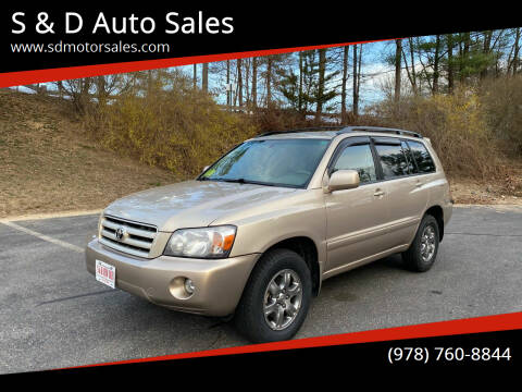 2006 Toyota Highlander for sale at S & D Auto Sales in Maynard MA
