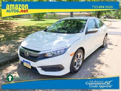 2016 Honda Civic for sale at Amazon Autos in Houston TX