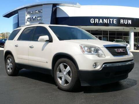2010 GMC Acadia for sale at GRANITE RUN PRE OWNED CAR AND TRUCK OUTLET in Media PA