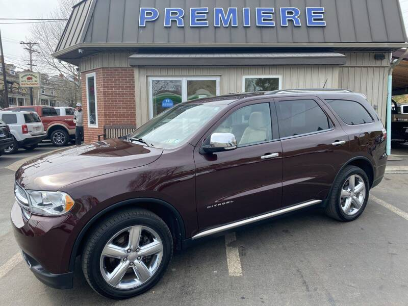 2012 Dodge Durango for sale at Premiere Auto Sales in Washington PA