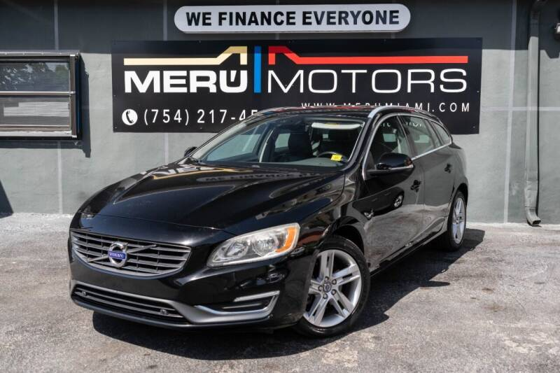 2015 Volvo V60 for sale at Meru Motors in Hollywood FL