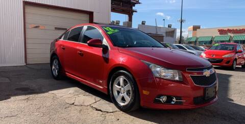 2012 Chevrolet Cruze for sale at Sanaa Auto Sales LLC in Denver CO
