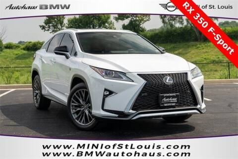 2018 Lexus RX 350 for sale at Autohaus Group of St. Louis MO - 3015 South Hanley Road Lot in Saint Louis MO