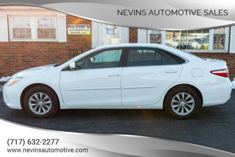 2016 Toyota Camry for sale at Nevins Automotive Sales in Hanover PA