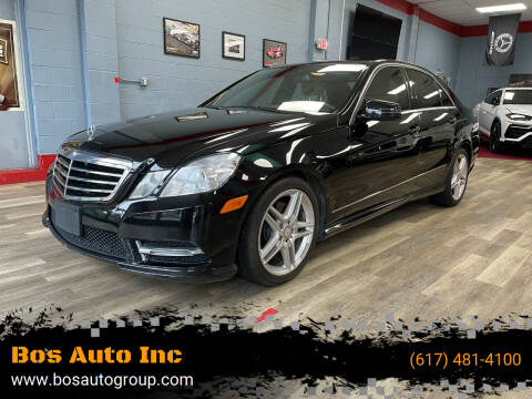 2013 Mercedes-Benz E-Class for sale at Bos Auto Inc in Quincy MA