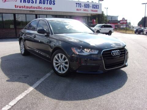 2013 Audi A6 for sale at Trust Autos, LLC in Decatur GA