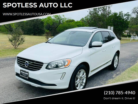 2016 Volvo XC60 for sale at SPOTLESS AUTO LLC in San Antonio TX