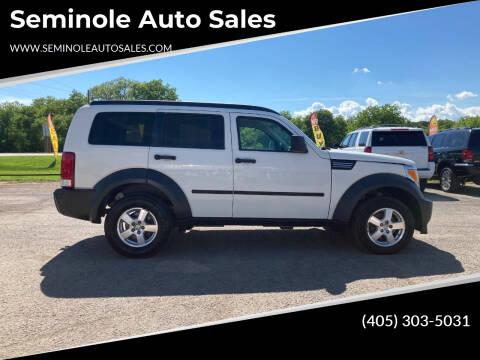 2007 Dodge Nitro for sale at Seminole Auto Sales in Seminole OK