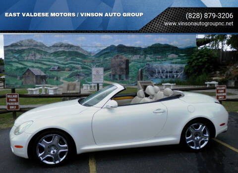 2002 Lexus SC 430 for sale at EAST VALDESE MOTORS / VINSON AUTO GROUP in Valdese NC