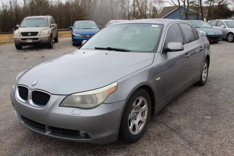 2004 BMW 5 Series for sale at UpCountry Motors in Taylors SC