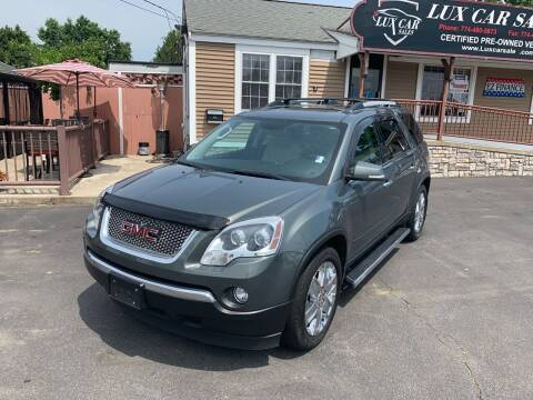 2010 GMC Acadia for sale at Lux Car Sales in South Easton MA