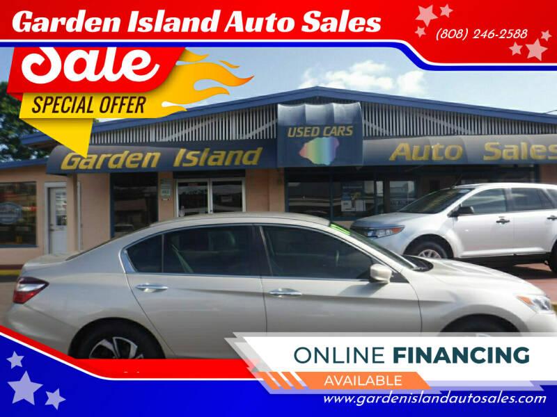2017 Honda Accord for sale at Garden Island Auto Sales in Lihue HI