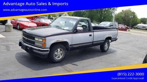 1993 Chevrolet C/K 1500 Series for sale at Advantage Auto Sales & Imports Inc in Loves Park IL