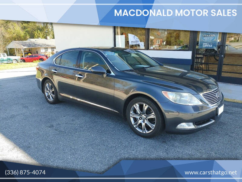 2007 Lexus LS 460 for sale at MacDonald Motor Sales in High Point NC